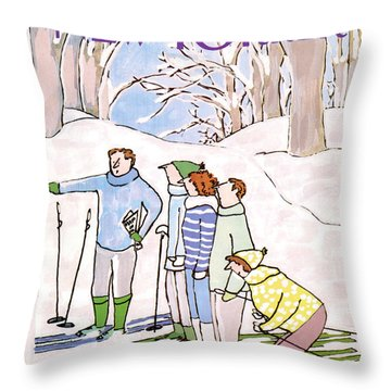New Yorker January 11th, 1988 Throw Pillow