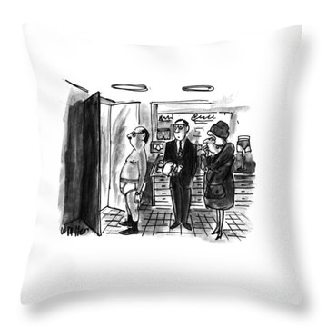 New Yorker January 11th, 1993 Throw Pillow