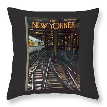 New Yorker January 12th, 1963 Throw Pillow