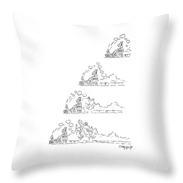 New Yorker January 12th, 1987 Throw Pillow