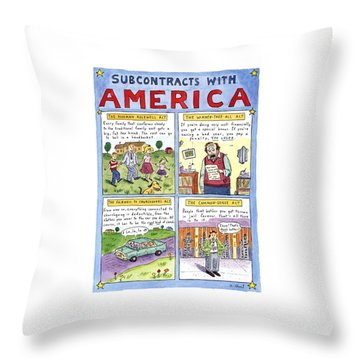 New Yorker January 16th, 1995 Throw Pillow