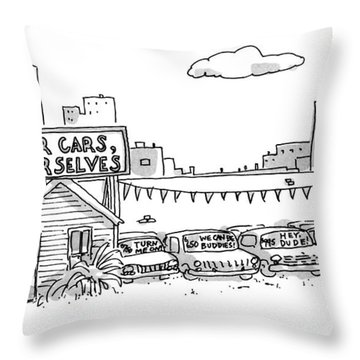 New Yorker January 1st, 1990 Throw Pillow