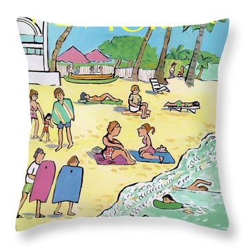 New Yorker January 20th, 1992 Throw Pillow