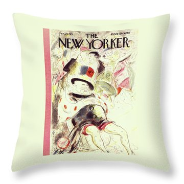 New Yorker January 24 1931 Throw Pillow