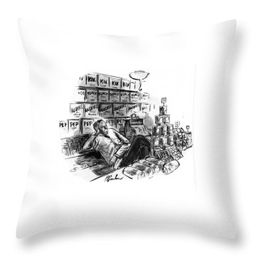 New Yorker January 25th, 1941 Throw Pillow