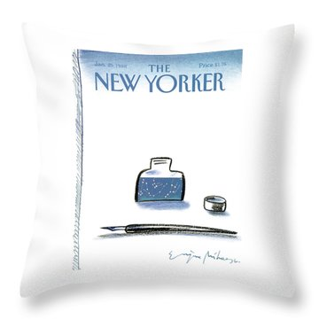New Yorker January 25th, 1988 Throw Pillow