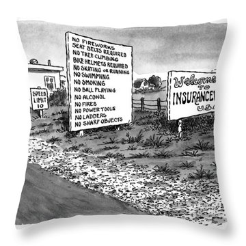 New Yorker January 25th, 1999 Throw Pillow