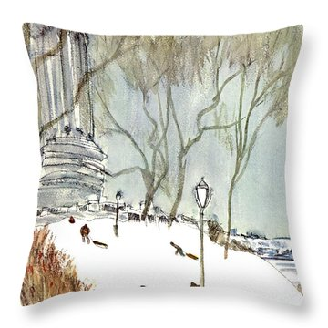 New Yorker January 27th, 1968 Throw Pillow