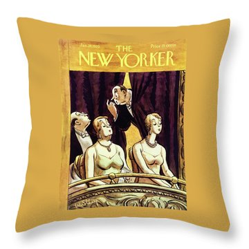 New Yorker January 28 1933 Throw Pillow