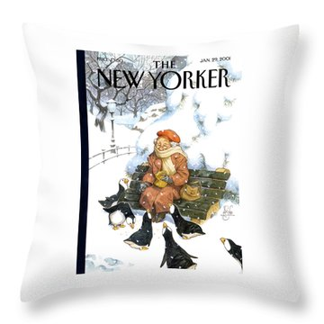 New Yorker January 29th, 2001 Throw Pillow