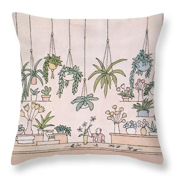 New Yorker January 31st, 1977 Throw Pillow