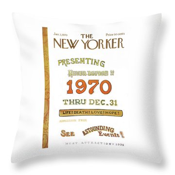 New Yorker January 3rd, 1970 Throw Pillow