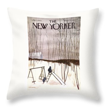 New Yorker January 5th, 1963 Throw Pillow