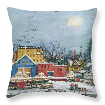 New Yorker January 6th, 1973 Throw Pillow