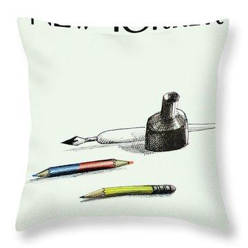 Inkwells Throw Pillows