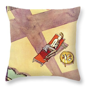New Yorker July 10 1937 Throw Pillow