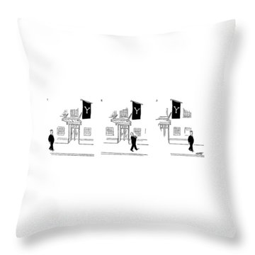 New Yorker July 10th, 1954 Throw Pillow