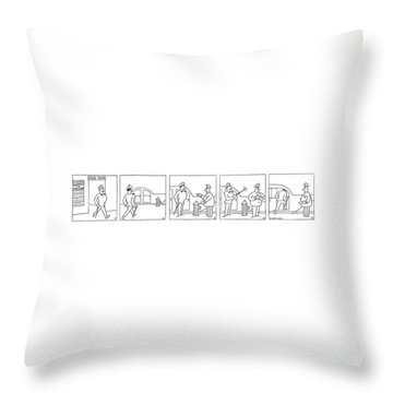 New Yorker July 11th, 1942 Throw Pillow
