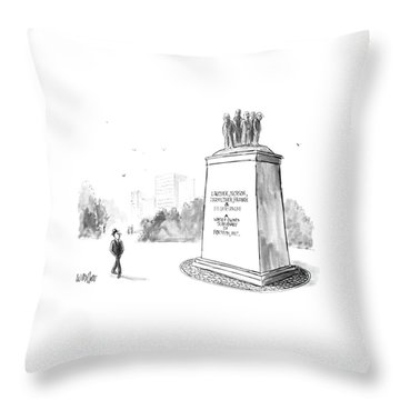New Yorker July 14th, 1986 Throw Pillow