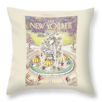 New Yorker July 18th, 1988 Throw Pillow