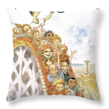 New Yorker July 1st, 2002 Throw Pillow