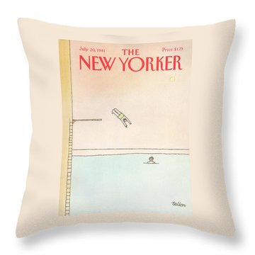 New Yorker July 20th, 1981 Throw Pillow