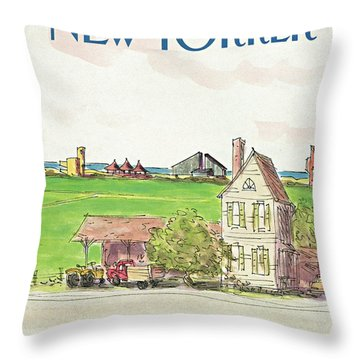 New Yorker July 20th, 1987 Throw Pillow
