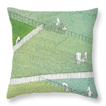 New Yorker July 21st, 1975 Throw Pillow