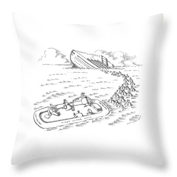 New Yorker July 27th, 1992 Throw Pillow