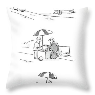 New Yorker July 4th, 1988 Throw Pillow