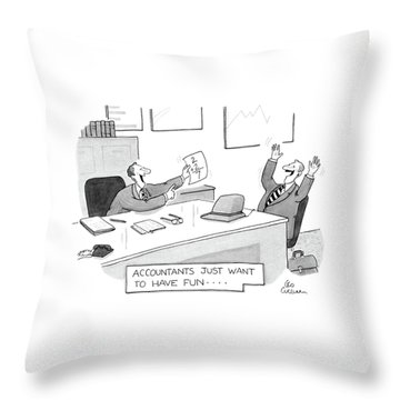 New Yorker July 8th, 1985 Throw Pillow