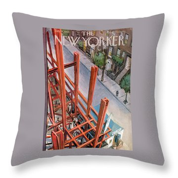 New Yorker July 9th, 1955 Throw Pillow