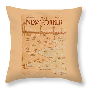 New Yorker July 9th, 1984 Throw Pillow
