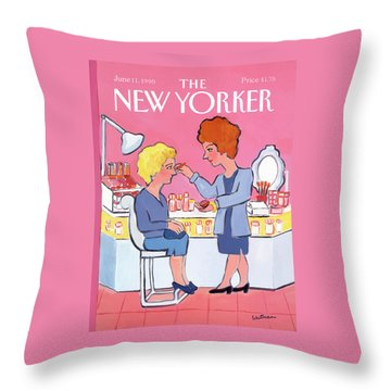 New Yorker June 11th, 1990 Throw Pillow