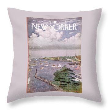New Yorker June 13th, 1964 Throw Pillow