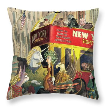 New Yorker June 16th, 1997 Throw Pillow