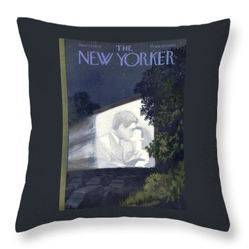 New Yorker June 19th, 1954 Throw Pillow