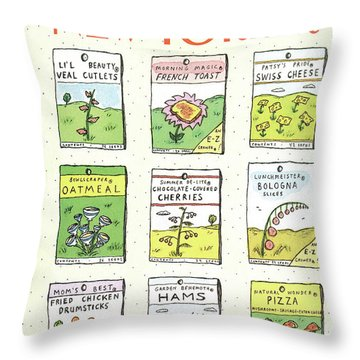 New Yorker June 1st, 1987 Throw Pillow