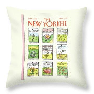 New Yorker June 1st, 1987 Throw Pillow