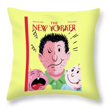 New Yorker June 20th, 1994 Throw Pillow