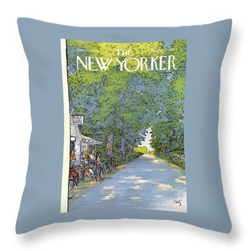 New Yorker June 21st, 1976 Throw Pillow