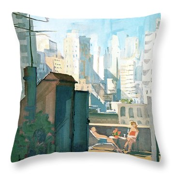 New Yorker June 22nd, 1963 Throw Pillow