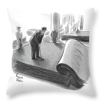 New Yorker June 25th, 1955 Throw Pillow