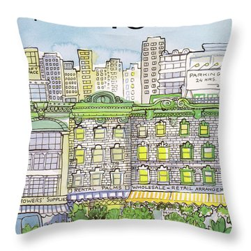 New Yorker June 25th, 1984 Throw Pillow