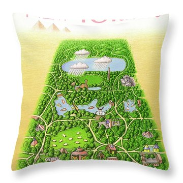 New Yorker June 25th, 1990 Throw Pillow