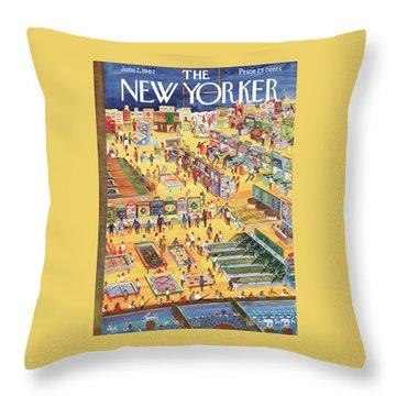 New Yorker June 2nd, 1962 Throw Pillow