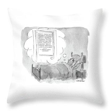 New Yorker June 2nd, 1986 Throw Pillow