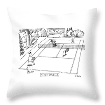New Yorker June 3rd, 1991 Throw Pillow by Peter Steiner