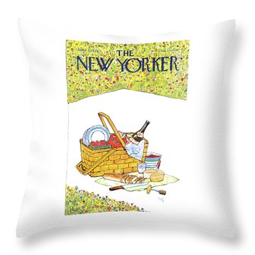 New Yorker June 5th, 1978 Throw Pillow