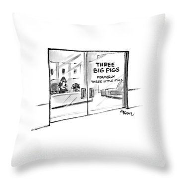 New Yorker June 7th, 1999 Throw Pillow